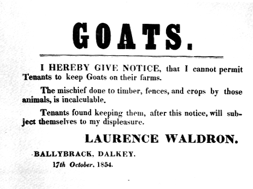 The incalculable mischief of goats