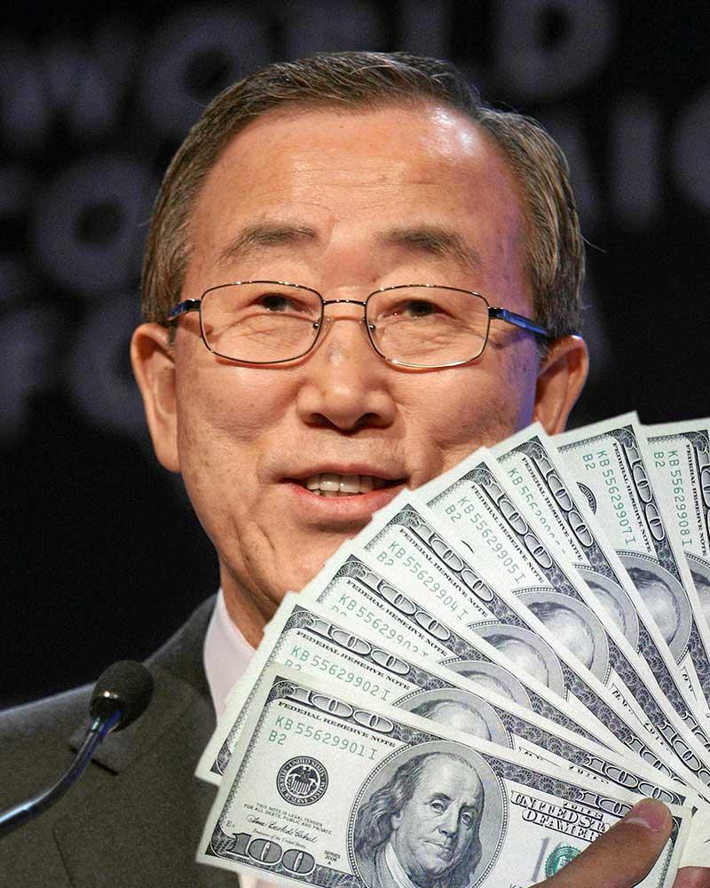 Ban Ki-Money!