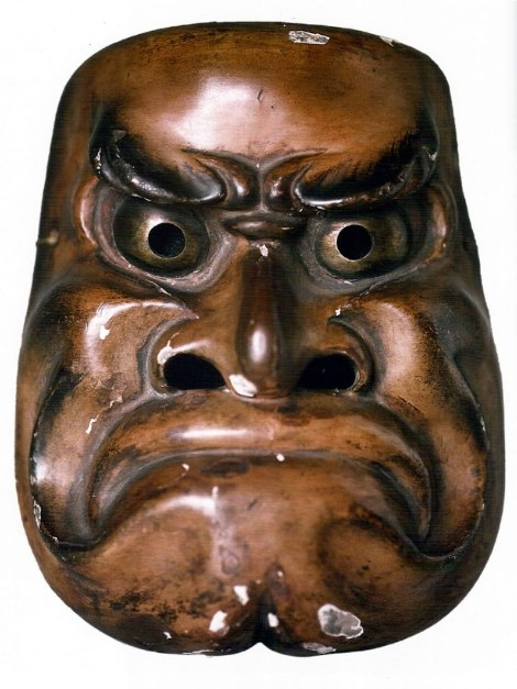 Obeshimi (demon mask), wood, Japan, mid 19th century.