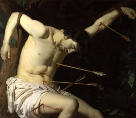 art Gerrit Van Honthorst, Saint Sebastian, c. 1623, National Gallery London
