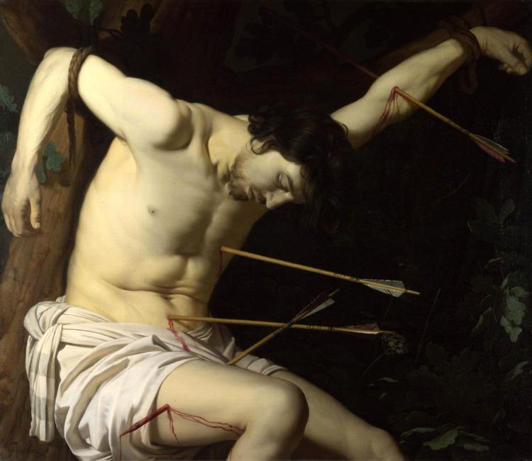 art Gerrit Van Honthorst, Saint Sebastian, c. 1623, National Gallery London